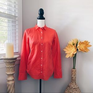 J Crew long sleeve button dress shirt EUC sz 2